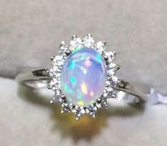 Opal Wedding Rings, Bridal Rings, Opal Rings, Diamond Wedding Bands, Sapphire Rings, Stone Rings, Opal Jewelry, Jewelry Art, Silver Jewelry