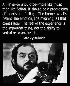 Film Director Quote - Stanley Kubrick - Movie Director Quote (With images) Filmmaking Quotes, Film Tips, Fritz Lang, Film Studies, Film Inspiration, Film School, Film Quotes, Screenwriting, Statements