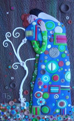The Embrace by Tammy Durham, Polymer clay art