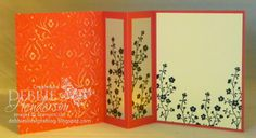 Debbie's Designs: New Card Fold & A Candle Card!