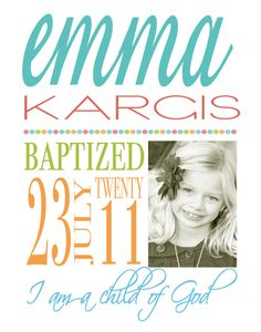 Custom Baptism Subway Art Announcement by emmiecakes on Etsy, $15.00