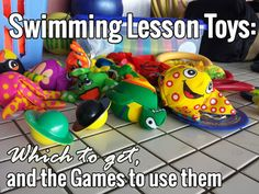 The toys to buy for your swimming lesson program: These are the best swimming lesson toys that you can get for your swim lessons or swim lesson program. If you use American Red Cross, Starfish Aquatics, or Swim America, you'll benefit from any or all of these swim lesson toys. Every game, song