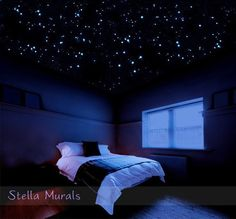 Realistic-looking star stickers you can gaze at when night falls.