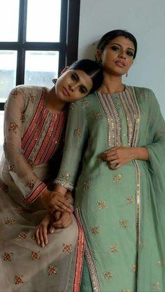 Ideas Embroidery Art Fashion Beautiful For 2019 Pakistani Bridal Dresses, Pakistani Dress Design, Indian Dresses, Indian Outfits, Embroidery Suits, Embroidery Fashion, Kurti Embroidery, Embroidery Art, Embroidery Designs