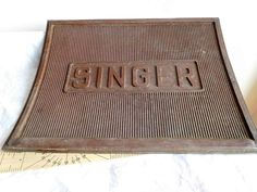 Singer treadle mat for sewing machine or woman/man cave foot pedal only vintage sewing machine steampunk goth stuff by DJintheUK on Etsy International Signs, Quirky Decor, Sewing Machine Parts, Cut And Paste, Peace Of Mind, Vintage Sewing, Are You The One, Man Cave, Steampunk