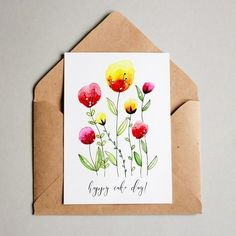 Easy Watercolor Flowers Step by Step Tutorial | Dawn Nicole Designs®