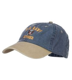 120e4001f05df US Navy Retired Military Embroidered Two Tone Cap Navy Khaki CU12HV9QU1R