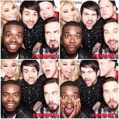 Pentatonix at the 2014 Streamy Awards. omg scott in the last one he is doing the face.. i am literally dying right now!!!!!! :) ♥