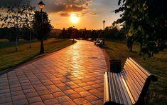 Park Benches Wallpaper  HD Widescreen