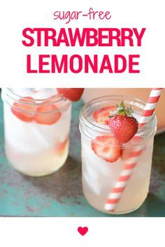 Refreshing sugar-free Strawberry Lemonade is a favorite around my house on a hot summer day. I've been making homemade lemonade for the boys since they were little in order to cut back on the amount of unnecessary sugar (including natural sweeteners) that my family consumes. This lemonade recipe is sweetened with stevia and is a fantastic low-carb drink for summer.