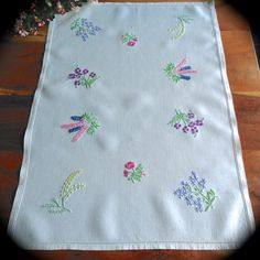 Updates from GardenOfCrinoline on Etsy Vintage Tea, Vintage Floral, Vintage Linen, Vintage Kitchen, Embroidery Motifs, Vintage Embroidery, Vintage Sewing Rooms, Embroidered Cushions, Etsy Handmade