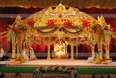 """these are the stage decorations of marriage. its also called """"manavarai"""" in tamil.@ and it will be make a blossoms in bridal mind. Wedding Stage Backdrop, Wedding Hall Decorations, Marriage Decoration, Wedding Entrance, Wedding Mandap, Wedding Venues, Telugu Wedding, Garland Wedding, Decor Wedding"""