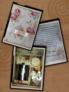 Caixa p/ pais e padrinhos de casamento