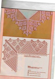 "Photo from album ""Peru sukneles"" on Yandex. Crochet Boarders, Crochet Lace Edging, Crochet Square Patterns, Crochet Diagram, Crochet Stitches Patterns, Crochet Chart, Lace Patterns, Filet Crochet, Crochet Designs"
