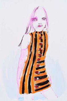 Louis Vuitton by Abbey McCulloch Shop the artist on SHOWstudio Love Art, My Love, Love Illustration, Portrait Art, Portraits, Ss 15, Types Of Fashion Styles, Illustrators, Aurora Sleeping Beauty
