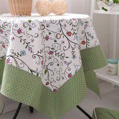 100% limitada de fadas de verão de algodão pequeno doce fresco rústico toalha de mesa toalha de mesa de jantar gremial