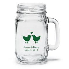 Personalized Mason Jar Drinking Glass