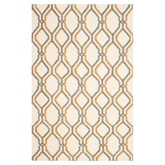 Stylishly anchor your living room seating group or dining ensemble with this hand-woven rug, showcasing a lattice motif and ivory hue.