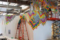Jen Stark – Installation for Facebook