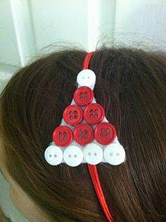Button Santa Hat headbands