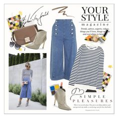 """""""Simple pleasures"""" by amaryllis ❤ liked on Polyvore featuring Rifle Paper Co, Pussycat, Topshop, T By Alexander Wang, MAC Cosmetics, Sam Edelman, Urban Decay and Ray-Ban"""