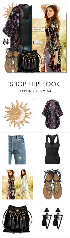 """I hear the ocean calling its songs stirring my restless gypsy soul..."" by hamaly ❤ liked on Polyvore featuring Levi's, LE3NO, Roberto Cavalli, Miu Miu, outfit, ootd, Bohemian and kimono"