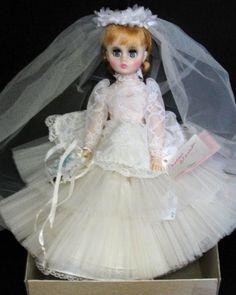 Madame Alexander Elise Bride Doll...I had a beautiful blonde Elise, made in 1972.  An elegant, beautiful bride!