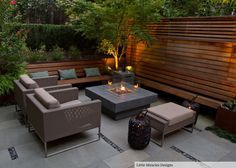 Low Maintenance Garden Seating Area