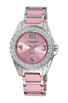 Akribos XXIV Women's Quartz Crystal Watch by TWI Watches on @HauteLook