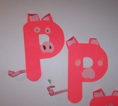 Alphabet Letter P is for Pig