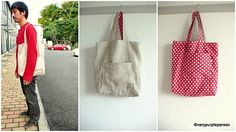 Reversible tote by verypurpleperson, via Flickr