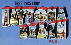 Greetings from Daytona Beach, Florida – Vintagraph