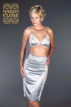 Skirt - Villa Satine Grey/White - Maison Close