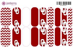 University of Oklahoma Nail wraps