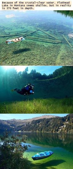 Clearest lake - montana. I REALLY want to see this on our Yellowstone trip