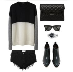 Alexander Wang Ankle Boots, Givenchy clutch, Ray-Ban Wayfarer, Rolex, Zadig and Voltaire mini short,