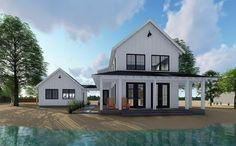 Plan 62650DJ: Modern Farmhouse Plan with 2 Beds and Semi-detached Garage
