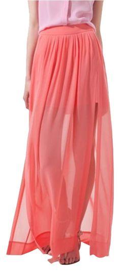 Zara Maxi Skirt. Free shipping and guaranteed authenticity on Zara Maxi Skirt at Tradesy. Worn twice. Fits a size small. So beautiful and fl...