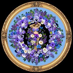Violet Flower Decor from Paradis Maison