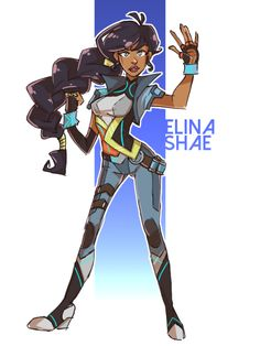 new slugterra oc redesign! this time was Elina Shae! she looks so fab and badass! and i dont know why but i wanted to see Elina with that hair :D Elina © jackiewinters