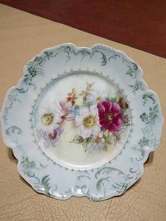 Limoges Hands Painted Dessert Plate