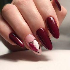 nail design here! Photos ♥ ♥ ♥ Video Lessons manicure nail design here! Manicure Nail Designs, Manicure E Pedicure, Nail Art Designs, Design Art, Cute Nails, Pretty Nails, Burgundy Nail Art, Valentine Nail Art, Nagel Gel