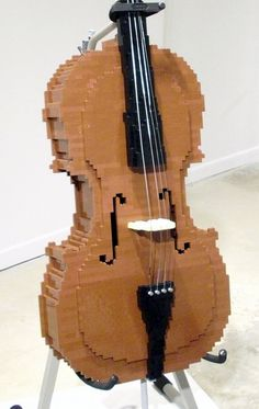 Lego by Nathan Sawaya — The Art of the Brick Lego For Kids, All Lego, Instruments, Legos, Lego Structures, Lego Challenge, Lego Sculptures, Amazing Lego Creations, Lego Games