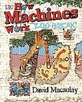 Award-winning artist David Macaulay introduces readers to his hilarious new creations, Sloth and Sengi, in How Machines Work: Zoo Break!   Complete with a unique jacket with an interactive compound machine incorporating several of the simple mechanisms featured in the book, How Machines Work: Zoo Break! uses models and illustrations to demonstrate the technology of six simple machines: levers, pulleys, screws, inclined planes, wedges, and wheels.   Follow the mad antics of Sloth and his…