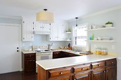 how to paint white cabinets  Young House Love
