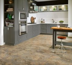 ARMSTRONG WORLD INDUSTRIES A6701 Sand and Sky Lexington Slate Per Case LVT Luxe Plank with Fastak Installation Ft 24 Sq