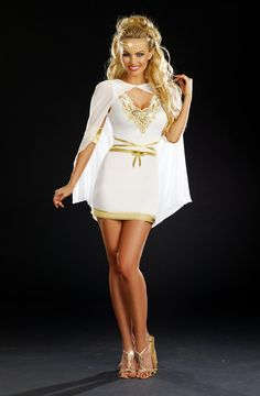 Sexy Adult Women Goddess Of Love, Aphrodite Costume Halloween Outfit Dress