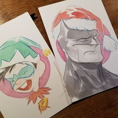 included in the mix for this year's .25¢  original Christmas art special will be  Lil Gotham Elf Damian and Santa Batman! -except they will be easter egged in my bigcartel store somewhere when I post one of the other Xmas art ... so you gotta find it I'll start posting sometime tomorrow. happy holidays everyone✊( bigcartel link on my bio)  duss005