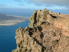 View from Montana Bermejo to Montana Clara, Chinijo archipelago, Canary Islands