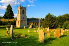 St Andrews Church, Naunton, Cotswolds, England, at Golden Hour.